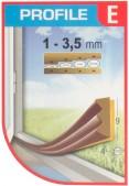 Tesnenie E 9x4mm-6m hnede (2x3m)