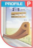 Tesnenie P 9x5,5mm-6m hnede (2x3m)
