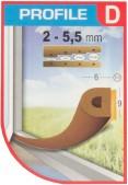 Tesnenie D 9x6mm-6m biele (2x3m)
