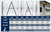 Rebrík výsuvný VHR H 2x10 priečok