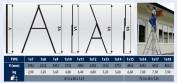 Rebrík výsuvný VHR H 1x14 priečok